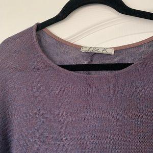 Chloe K Tops - Brown Knit Sweater Shirt